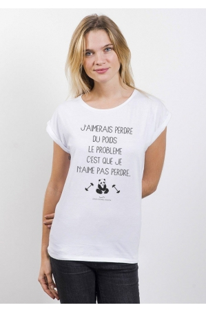 Perdre du poids T-shirt Femme Manches retroussées