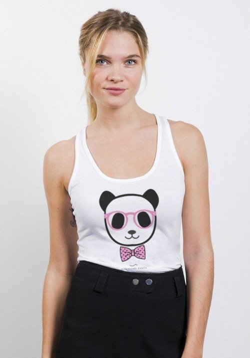 Panda nœud pap Débardeur Femme