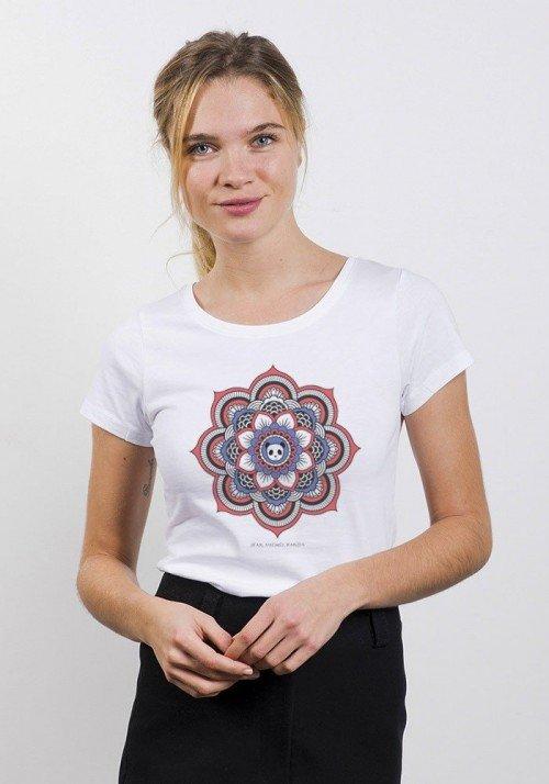 Mandala Panda T-Shirt Femme Col Rond