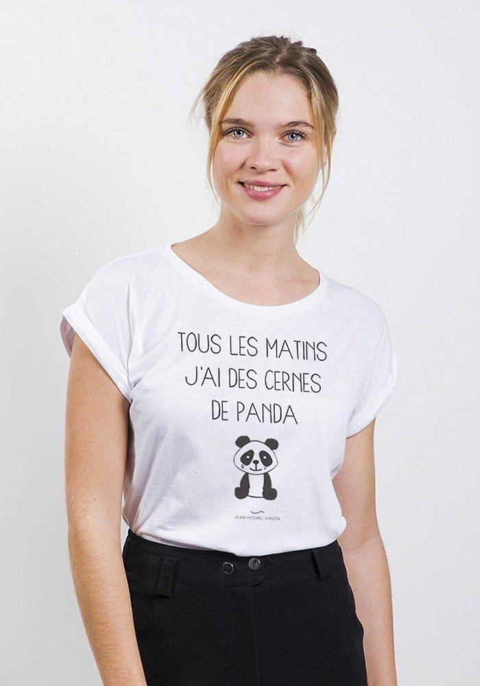 Cernes de panda T-shirt Femme
