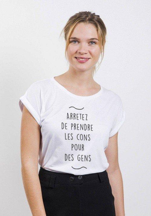 Arrêtez de prendre T-shirt Femme Manches Retroussées