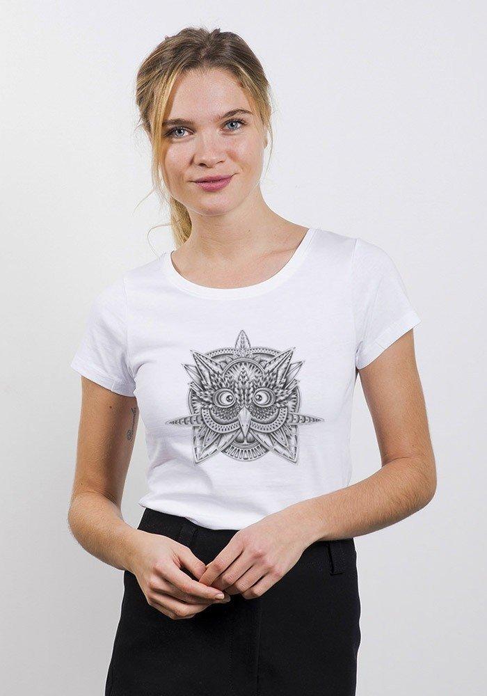 Tribal Owl T-shirt Femme