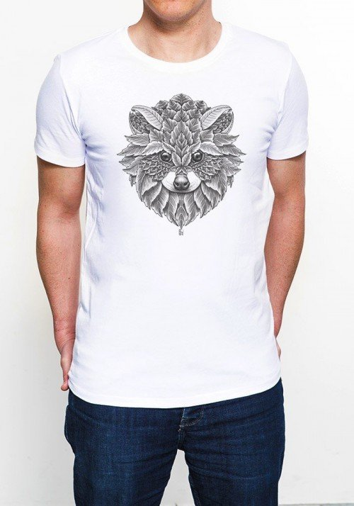 Racoon T-shirt Homme Col Rond