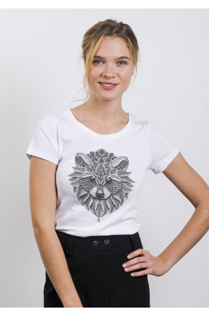 Racoon T-shirt Femme Col Rond