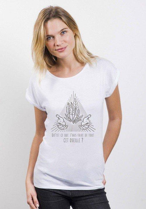 Oseille T-shirt Femme Manches Retroussées