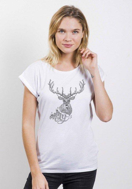 Oh My Deer T-shirt Femme Manches Retroussées