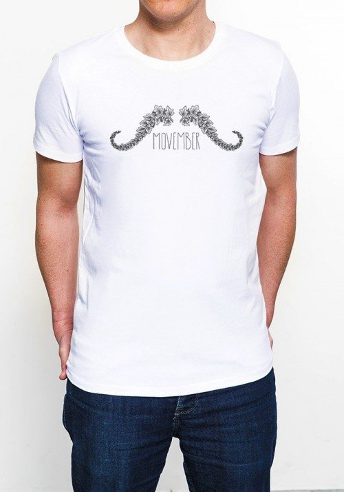 Movember T-shirt Homme Col Rond