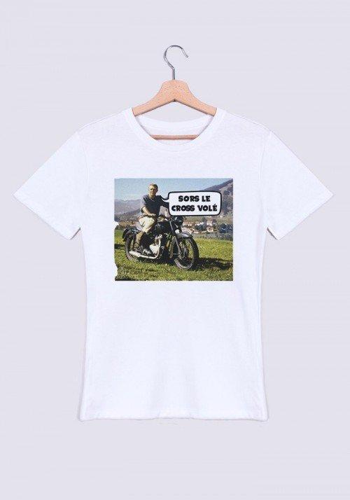 Sors le cross volé T-shirt Homme Col rond