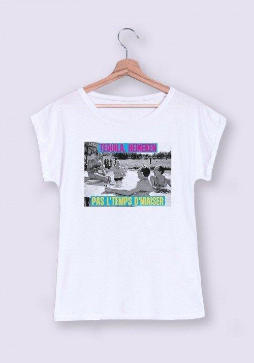 Pas le temps T-shirt Femme Col rond