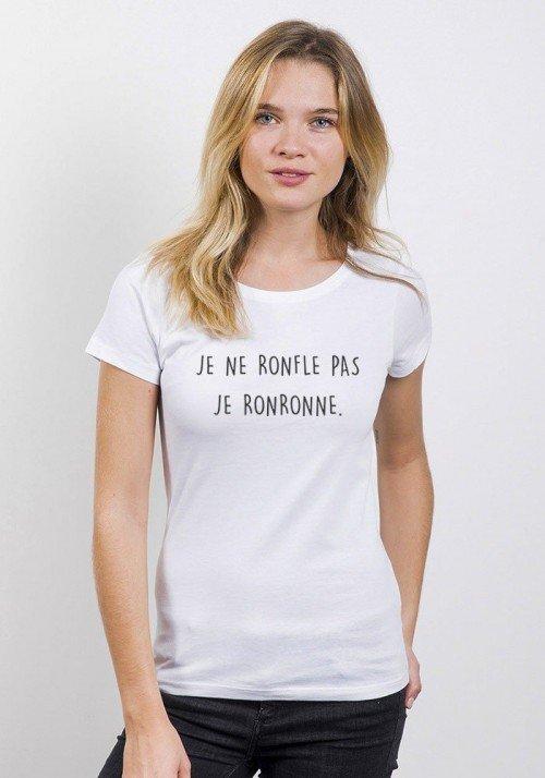 Je ne ronfle pas T-shirt Femme Col rond