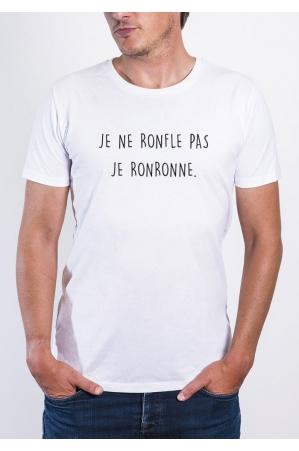 Je ne ronfle pas T-shirt Homme Col rond