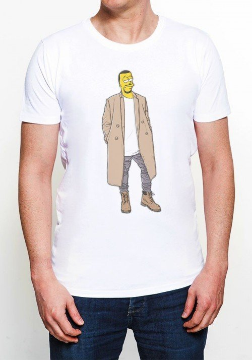 Kanye T-shirt Homme Col rond