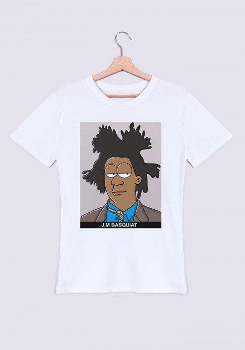 JM Basquiat T-shirt Homme Col Rond