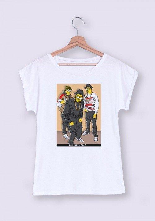The Run DMC T-shirt Femme Manches retroussées