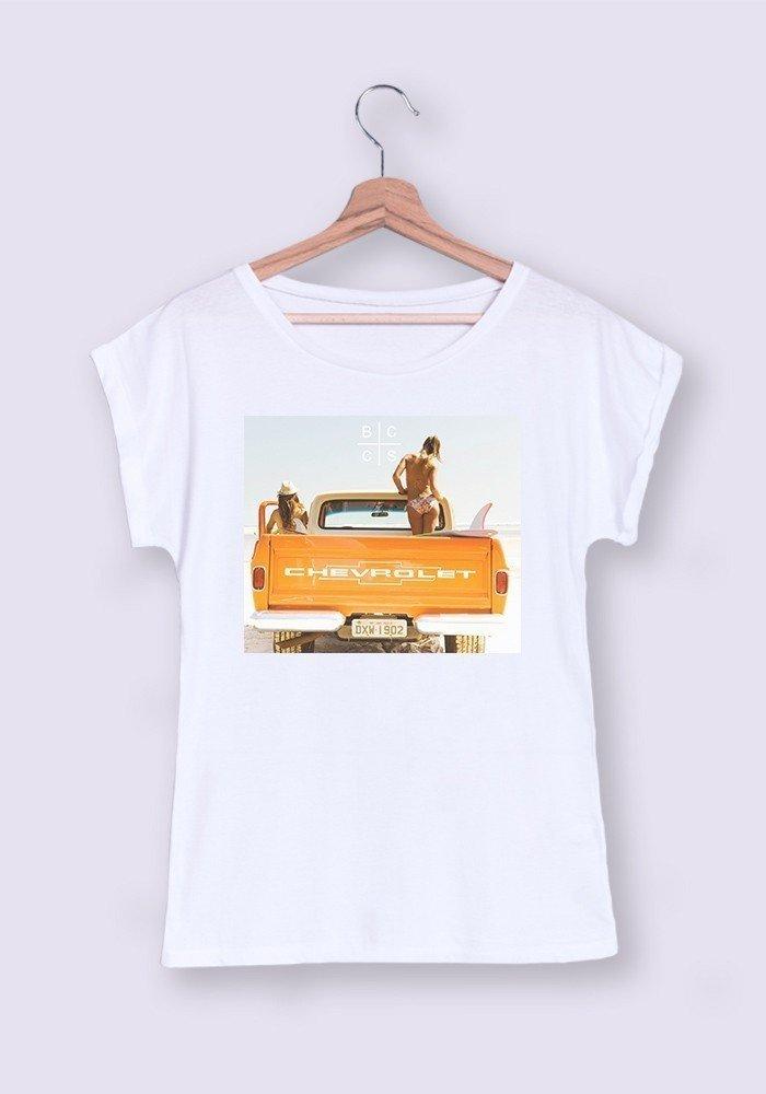 Surf Truck T-shirt Femme Manches Retroussées