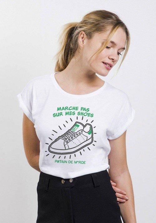 Stan Shoes T-shirt Femme Manches Retroussées