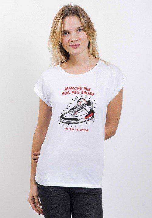 Shoes T-shirt Femme Manches Retroussées