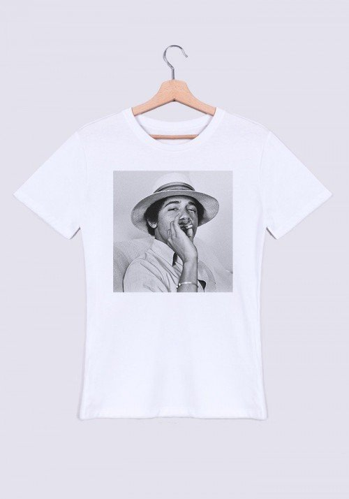 Obama Weed T-shirt Homme Col Rond