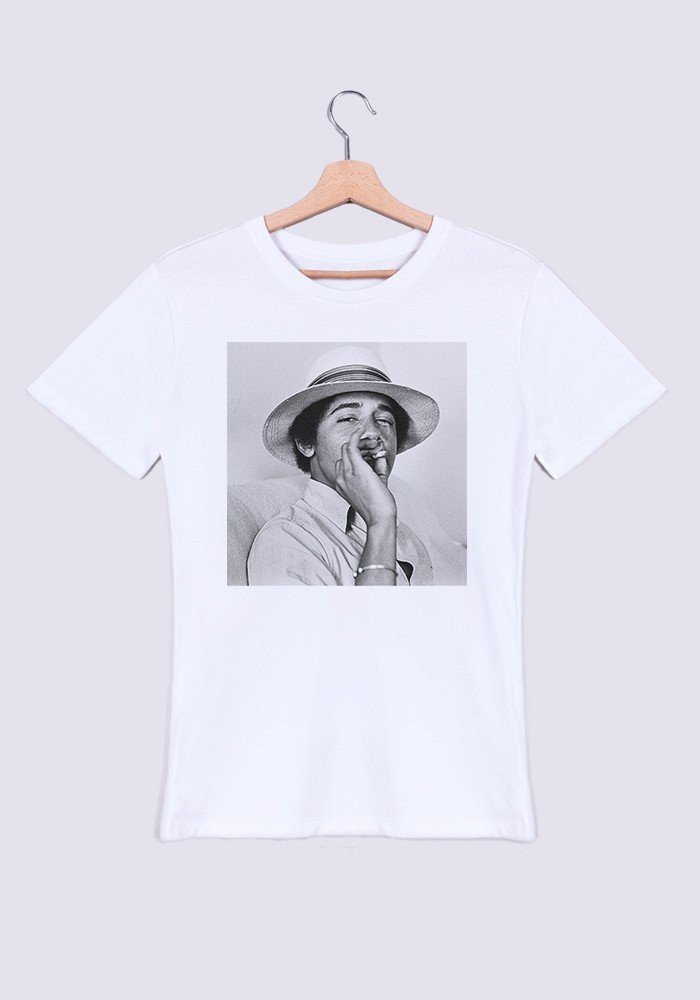 Obama Weed T-shirt Homme