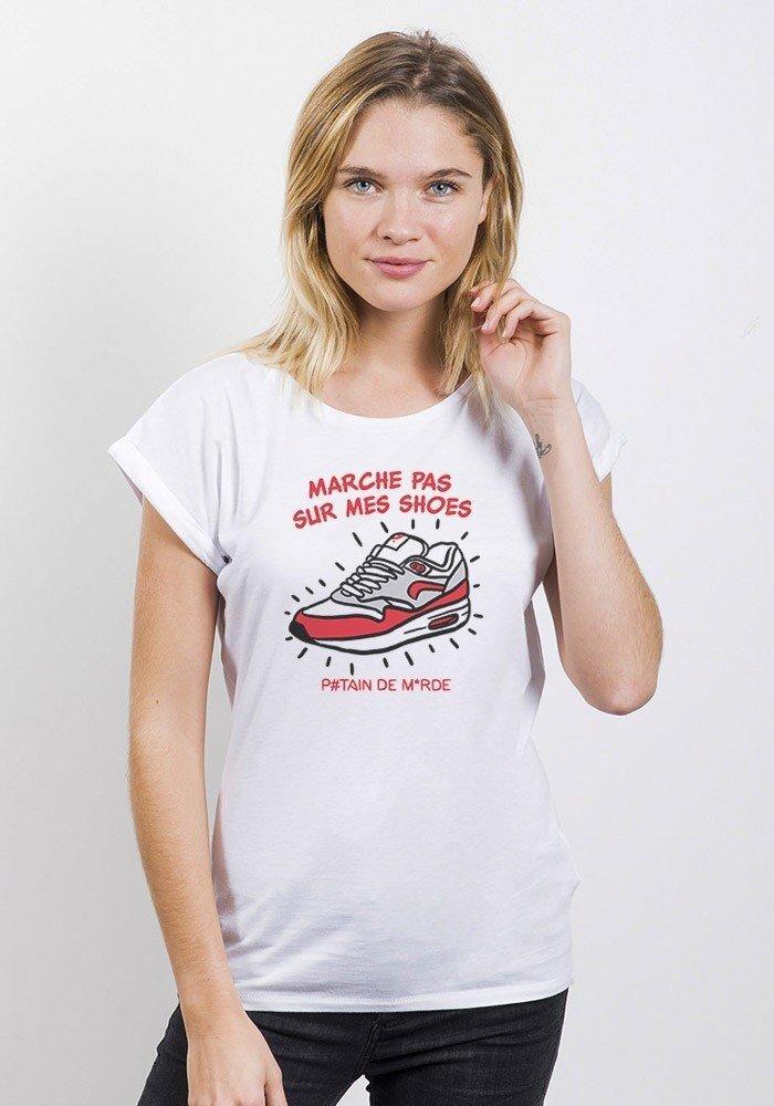 Max Shoes T-shirt Femme Manches Retroussées