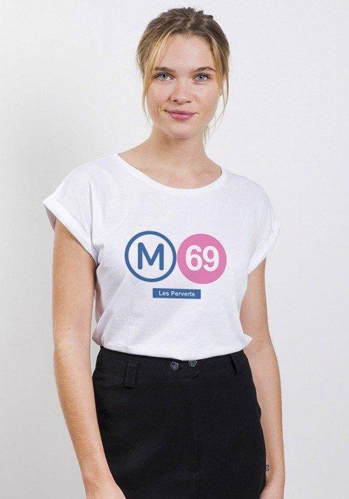 Les Perverts T-shirt Femme Manches Retroussées