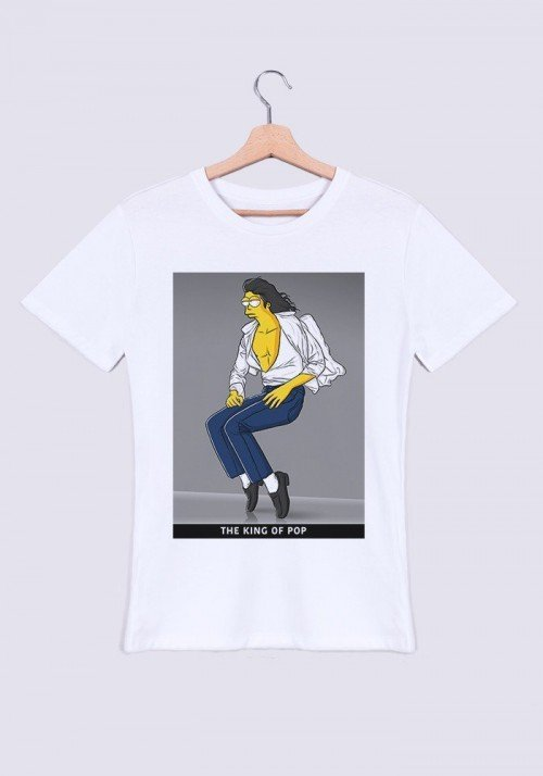 King of Pop T-shirt Homme Col rond