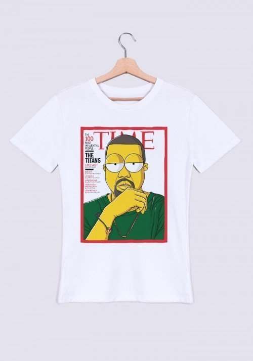 Kanye Time T-shirt Homme Col Rond