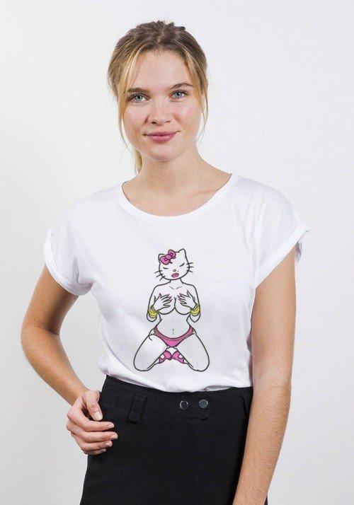 Hello Katin T-shirt Femme Manches retroussées