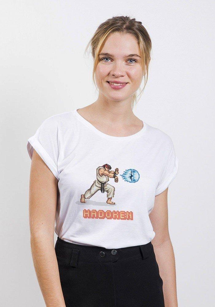 Fighter T-shirt Femme Manches Retroussées