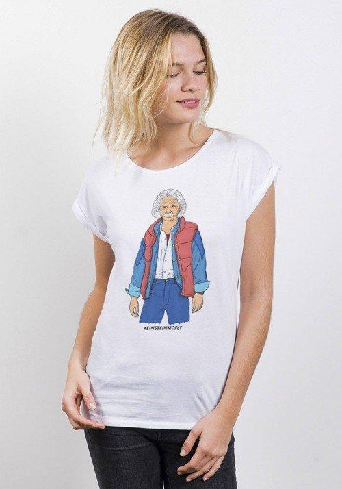 Einstein Mc Fly T-shirt Femme Manches retroussées
