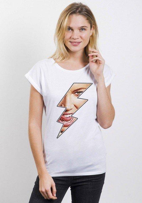 Eclair T-shirt Femme Manches Retroussées