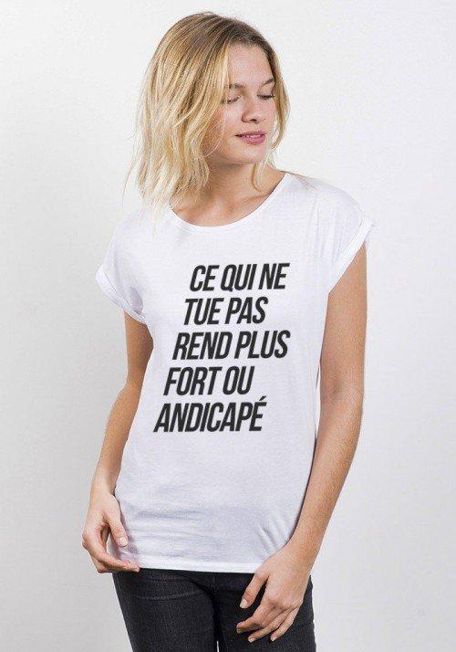 Culte T-shirt Femme Manches Retroussées