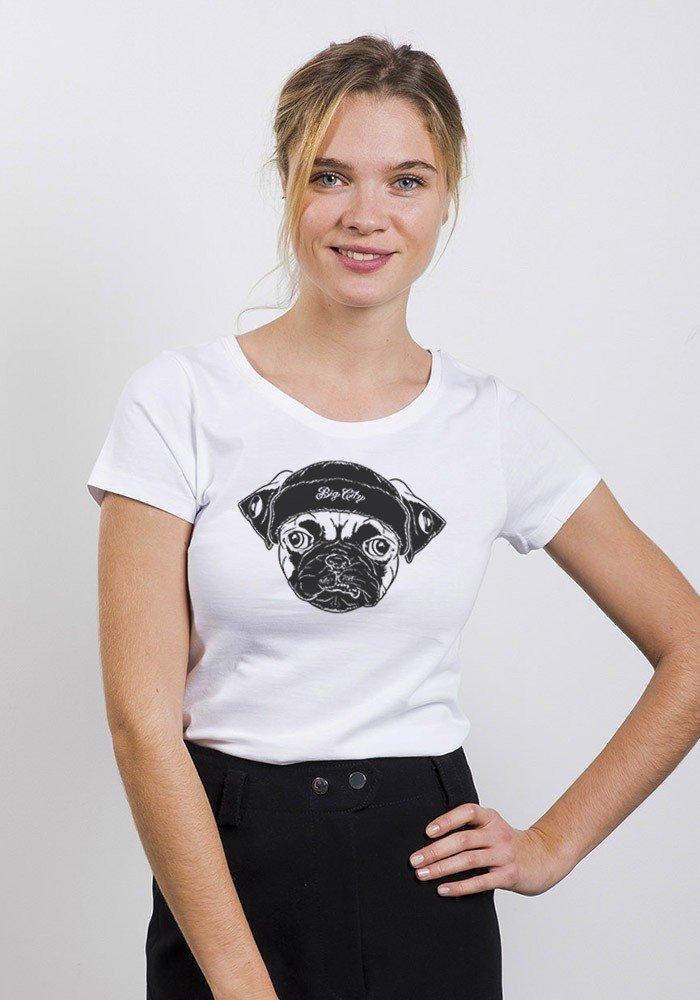 Big Pug T-shirt femme Col rond