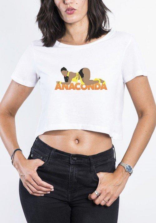 Anaconda Crop Top Femme