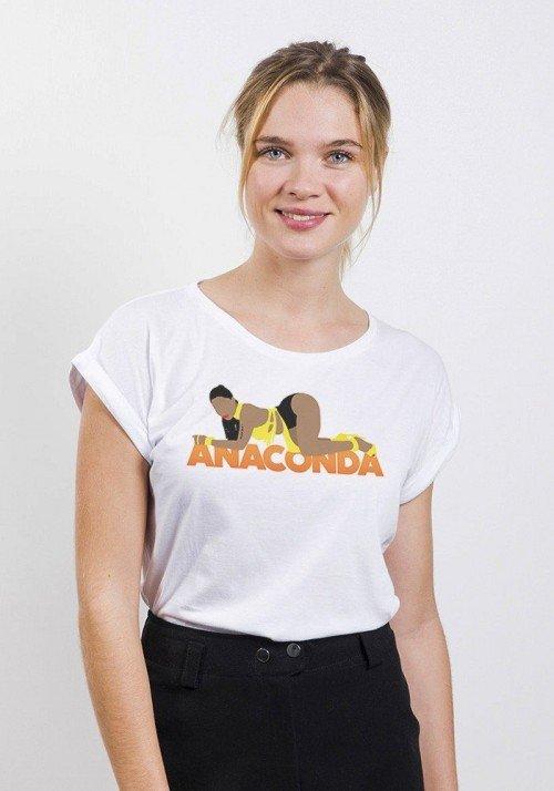 Anaconda T-shirt Femme Manches Retroussées