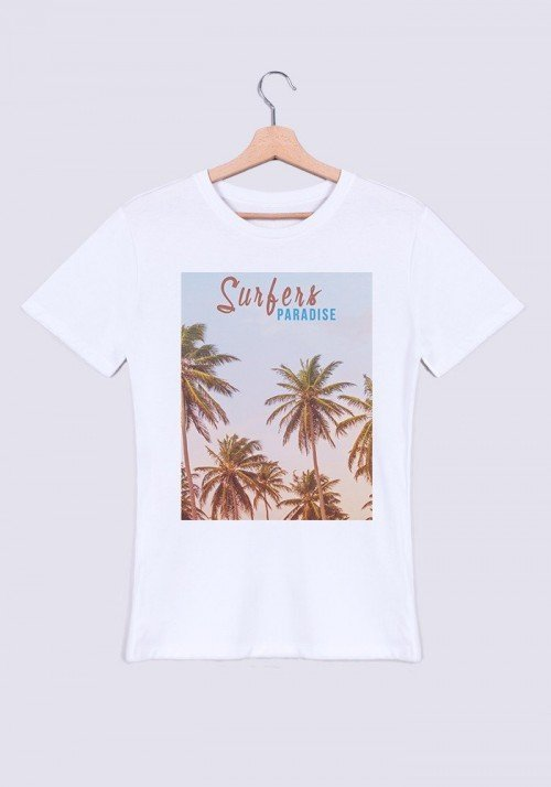 Surfers Paradise T-shirt Homme Col Rond