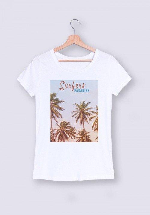Surfers Paradise T-shirt Femme Col Rond