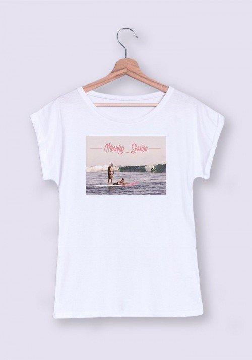 Morning Session T-shirt Femme Manches retroussées