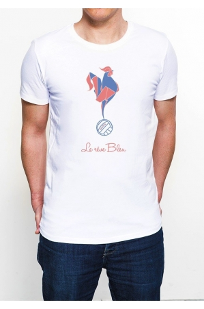 Coq foot T-shirt Homme Col Rond