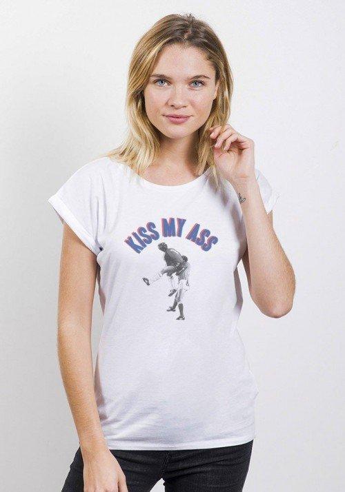 Kiss my Ass T-shirt Femme Manches retroussées