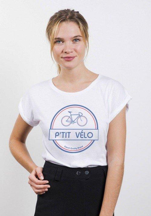 French Quality Brand  T-shirt Femme Manches retroussées