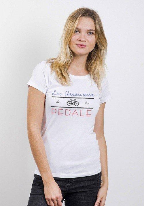 Amoureux De La Pédale T-shirt Femme Col rond