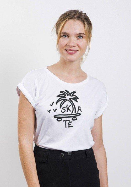 T-shirt Femme manches retroussées Skate