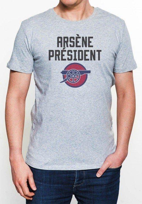 Arsène Président T-shirt Homme Col rond