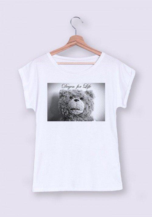 Ted Degen T-shirt Femme Manches Retroussées
