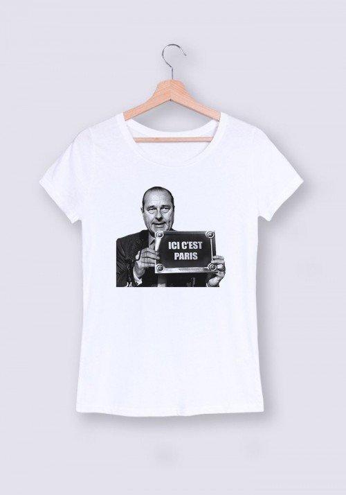 Ici c'est Paris T-shirt Femme Col Rond