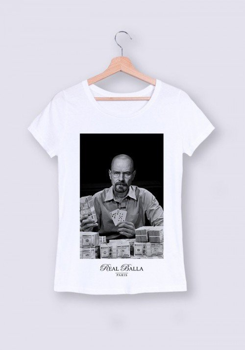 Heisenberg T-shirt Femme Col Rond