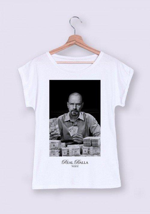 Heisenberg T-shirt Femme Manches Retroussées