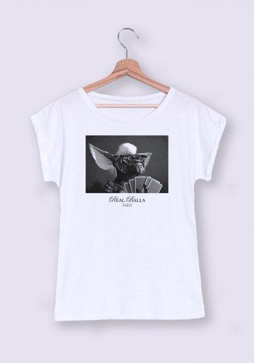 Gremlins T-shirt Femme Manches Retroussées