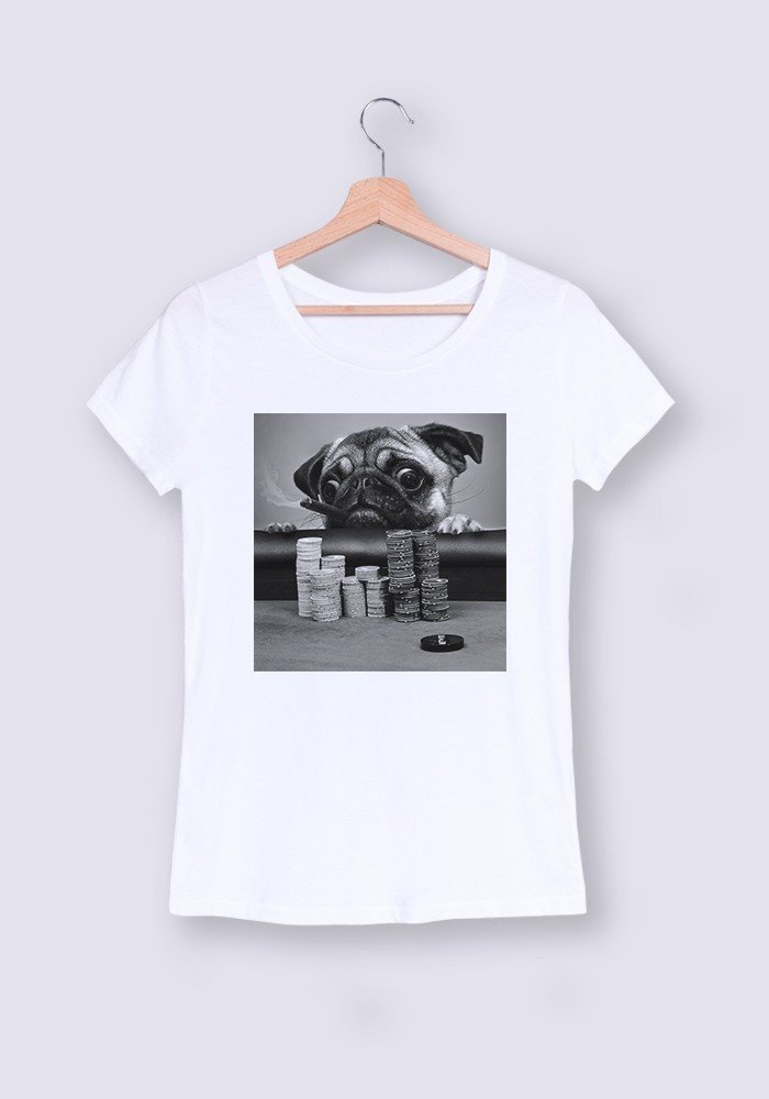 Tshirts Femme Gambling Pug